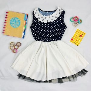 f5fc65d5df97 Other - Polka Dot Summer Dress in Blue and White in Medium